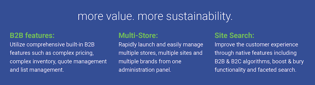 More Value. More Sustainability. Znode B2B Features, Multi-Store, and Site Search